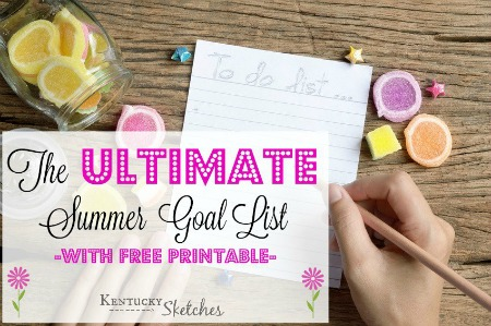 The Ultimate Summer Goal List