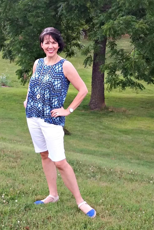 white shorts for summer