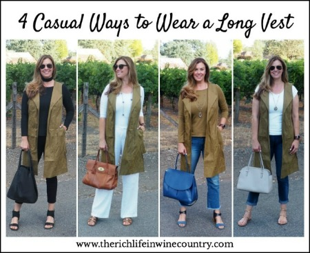 Four Ways To Wear A Long Vest