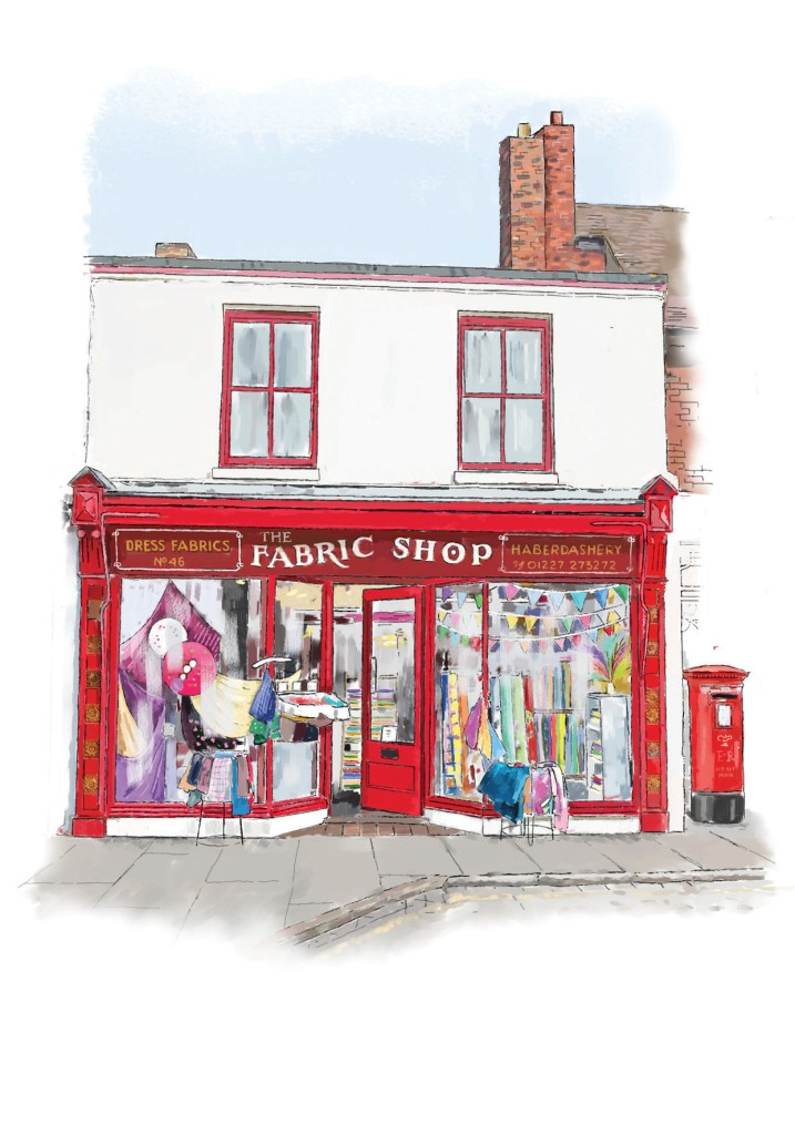the fabric shop whitstable shop front