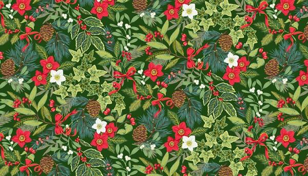 Christmas foliage fabric