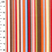 multi colour stripe poplin