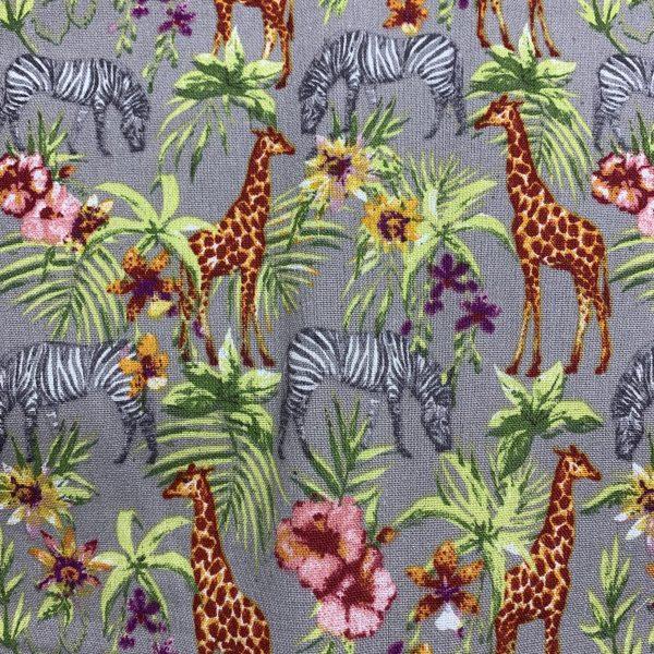 safari print linen viscose fabric