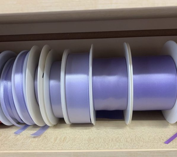 lilac satin ribbon