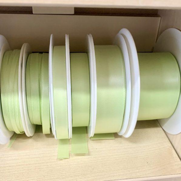 pale green satin ribbon