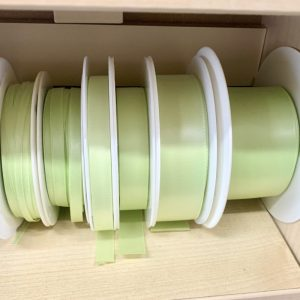 pale green satin ribbon
