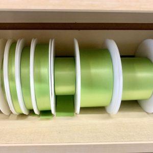 bright green satin ribbon