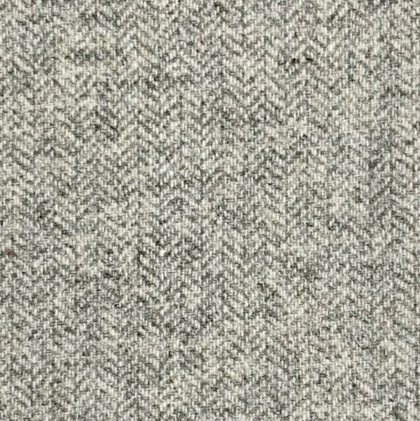 Grey Herringbone Tweed