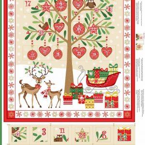 tree and reindeer scene advent calendar