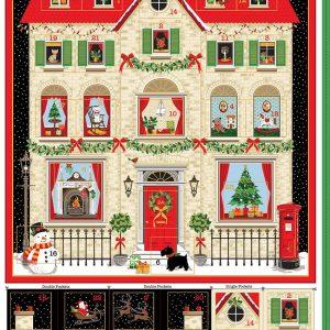 house print advent calendar panel