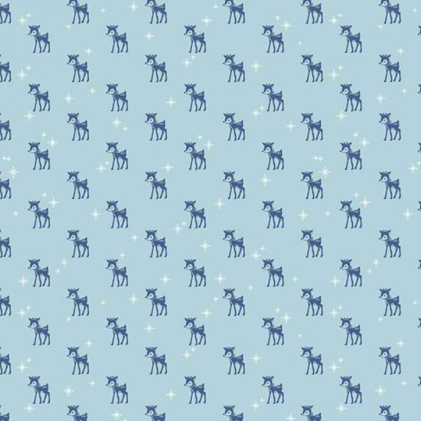 reindeer print on blue fabric