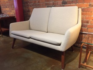 leather sofa repair london ontario cheap sofas sale the fabulous find mid century modern furniture showroom in exquisite danish 2 seater loveseat a gorgeous cream quality wool designed by