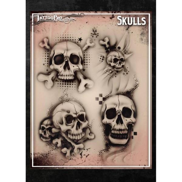 Airbrush Tattoo Pro Skulls