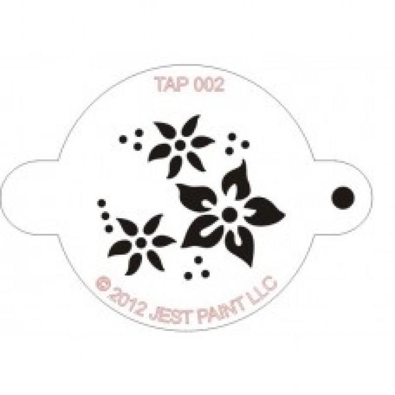 TAP 002 Stencil Flowers
