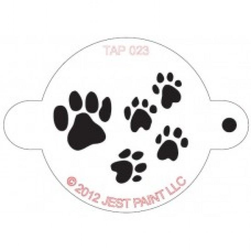 TAP 023 Stencil Paw Prints