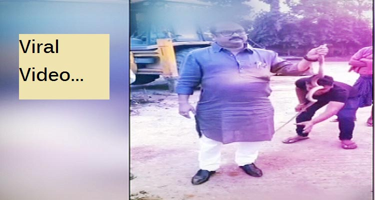 Paradip MLA holds snake by head, video viral