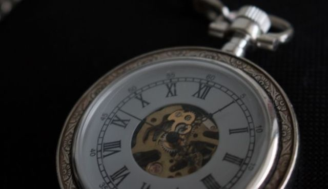 An old watch with Roman numerals