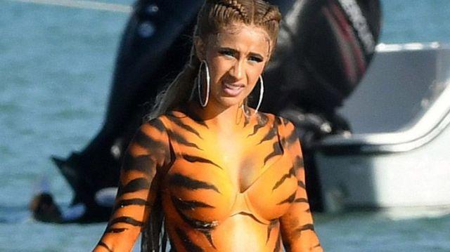 Cardi B - Tiger Body Paint