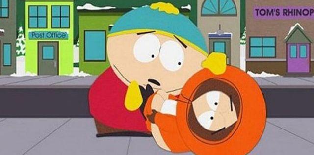 Cartman looking surprised that Kenny died.
