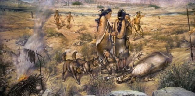 Illustration of Paleo-Indians