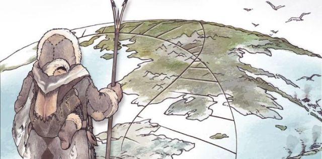 Clovis nomad holding a stick