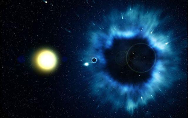 An image of a big black hole