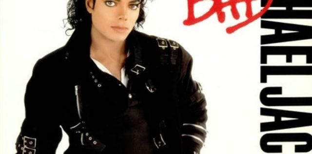 "Michael Jackson's cover image for his single ""Bad"""