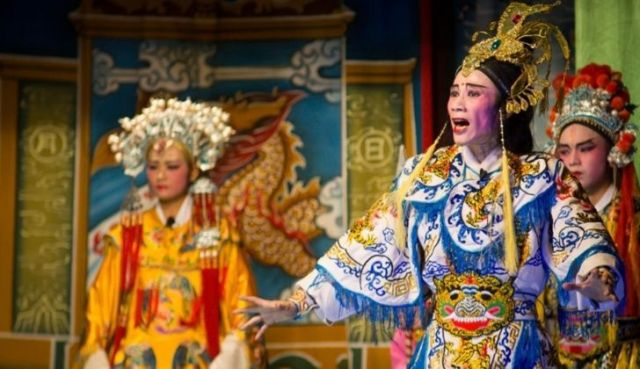 Hungry Ghost Festival opera in China