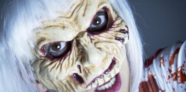 A scary Halloween mask