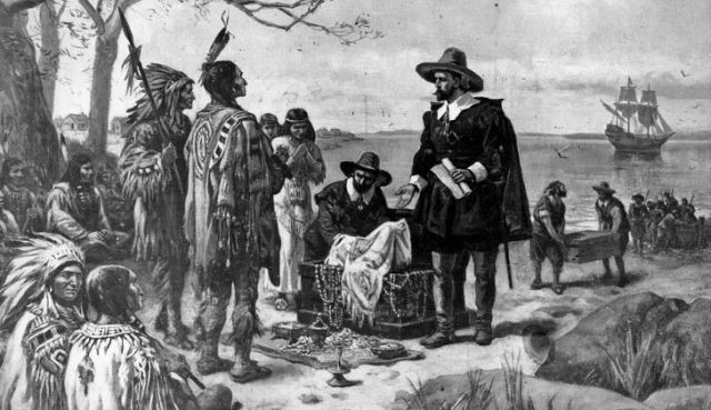 A black and white illustration of the Lenape Tribe