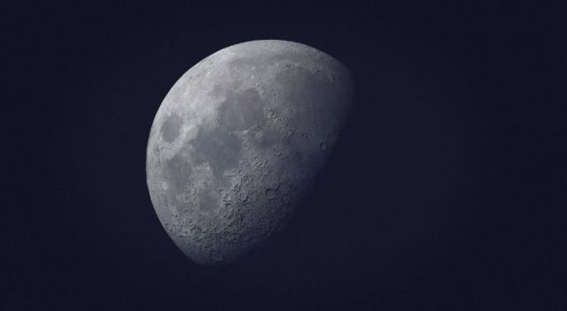 The moon not fully visible