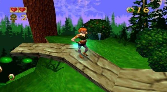 The Pandemonium game in 3D on Sega Saturn