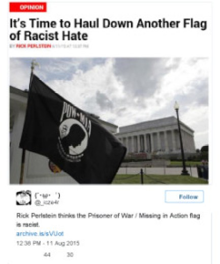 POW_MIA Flag of _Racist Hate_ Should Be Hauled Down Next Says Newsweek Op-Ed _ The Daily Sheeple1