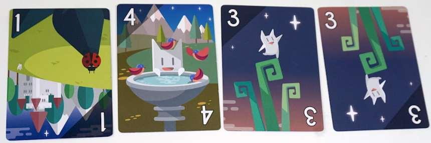 Four cards: 1, 4, 3, 3