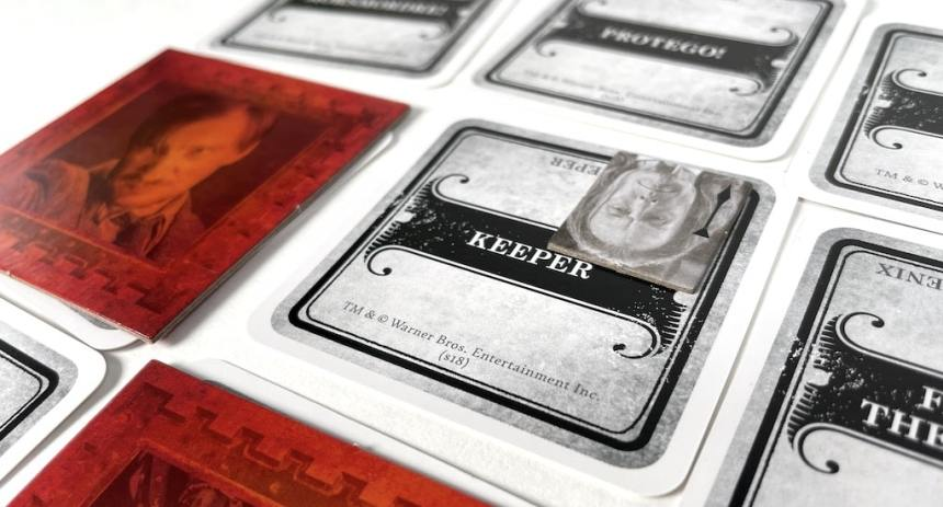 Keeper card with ministry token placed on it