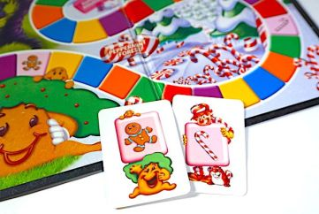 Candy Land board with Gingerbread and Candy Cane cards