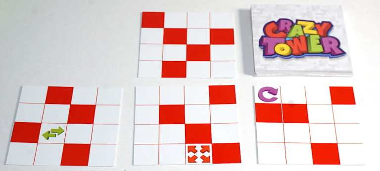 Crazy Tower Floor cards with special boxes