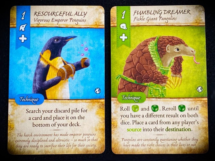 Resourceful Ally (Penguins), Fumbling Dreamer (Pangolins)