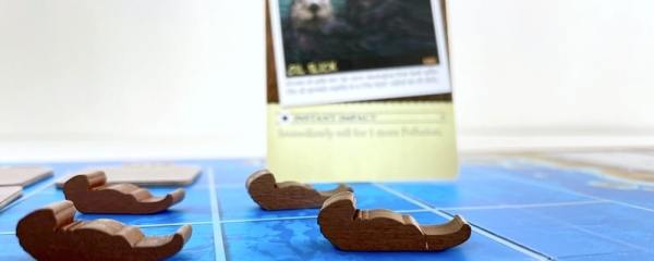 Endangered game with sea otters