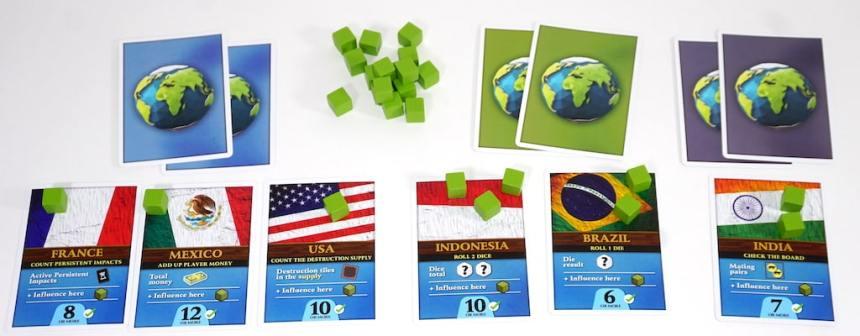 Endangered ambassador cards: France, Mexico, USA, Indonesia, Brazil, India