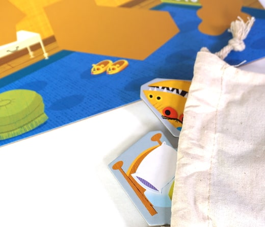 Go Away Monster - pull monster or bed out of the bag