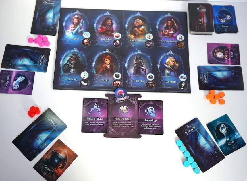Grimm Masquerade character board setup