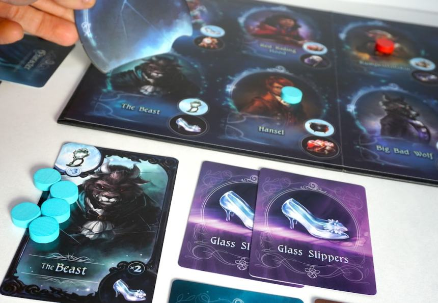 Grimm Masquerade board - covering the Beast with a broken mirror