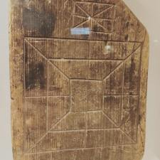 Homemade board for Nine Men's Morris
