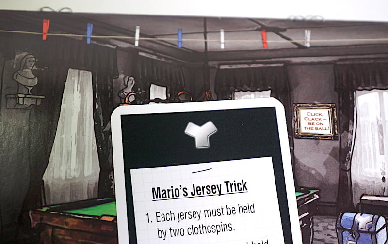 Mario's Jersey Trick ... something about clothespins