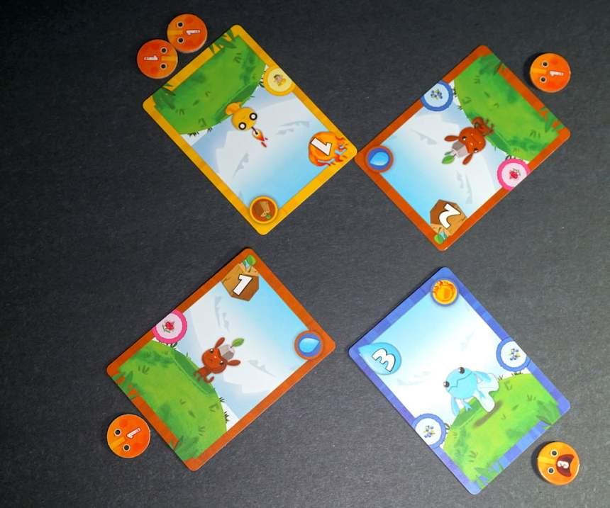 Monster cards: 1 Fire monster, 2 Earth monsters, 1 Water monster.