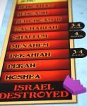 """End of timeline: crown on """"Israel Destroyed"""""""