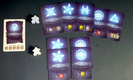 Top row: 5 different runes. Bottom row: 4 runes, 2 each of 2 types