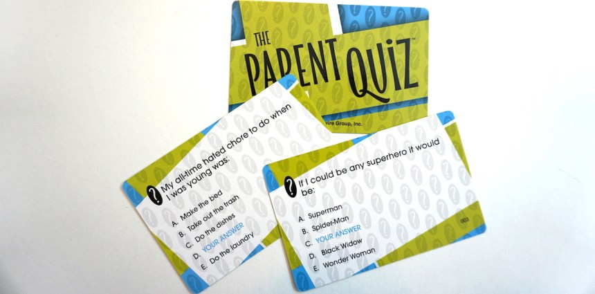 The Parent Quiz cards