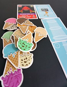 ice cream tokens and beam track